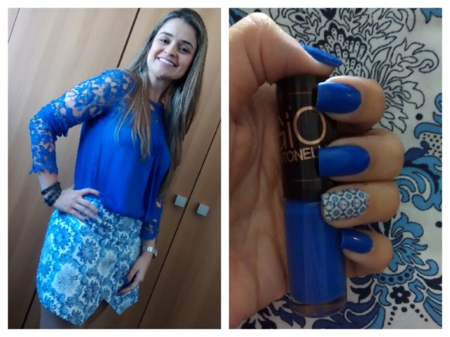 look azul - blusa China