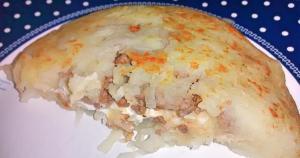 batata suica com carne moida