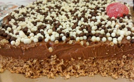 cheesecake de nutella pedaco