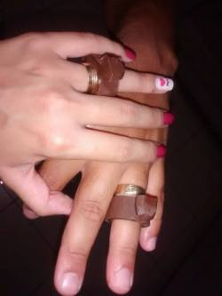 aliancas de chocolate