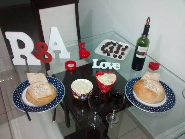 mesa jantar bodas de papel - pao italiano com file