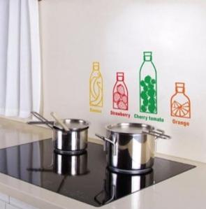 adesivo cozinha - garrafas