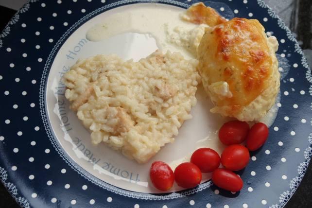 risoto de frango